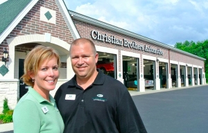 Franchise Business Review names Christian Brothers as the best automotive franchise to own. Pictured are franchisees Matt and Lee Rucks of Hendersonville, Tennessee.